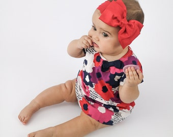 Baby Headband, Red Big Bow Headband, Red Baby Headband, Newborn Headband, Big Bow Headband, Toddler Bow Headband, Nylon Headband, 1105