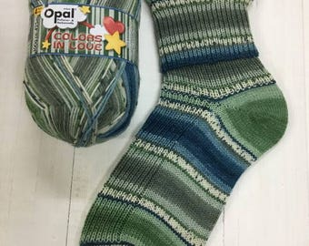 Kim Viridian Schafpate 4 Ply Sock Yarn 7951 By Opal