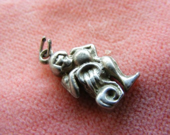 Vintage Sterling Silver Charm Zodiac Aquarius water carrier