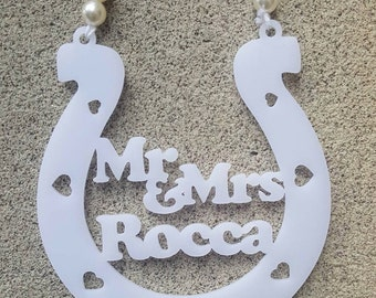 Custom Bridal Charm - Wedding charm - Mr & Mrs NAME - Custom Designed And Cut In MELBOURNE - The Perfect Wedding Gift - Spoil The BRIDE