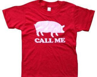 Call Me Razorbacks Kids Cotton Poly Blend Tee