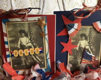 Pair of Small Gift Bags~~~ Favors~~~ Hostess Gifts~~~ Patriotic Style