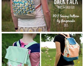 Day Off Backpack PDF Sewing Pattern Adult and Child size