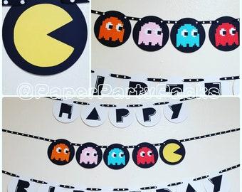 Arcade Game Birthday Banner
