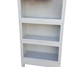Save 20% on NASA Industrial Globe-Wernicke Steel Barrister Bookcases, circa 1960