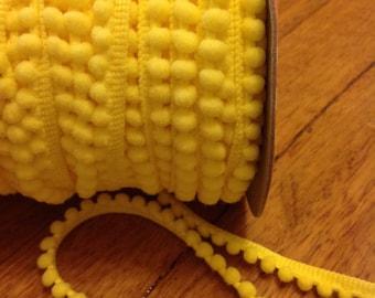 Riley Blake Pom Pom Trim Mini Yellow (1 Metre)