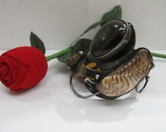 Antique silver unique bangle