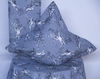 Pillow case Grey with angels and Stehsaum 40 x40