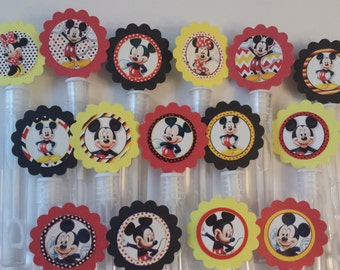 Mickey Mouse Mini Bubble Wands birthday party favors - set of 15