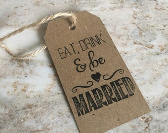 Eat Drink & Be Married Gift Tags (set of 40)