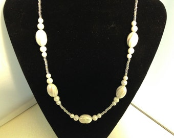 White beaded Necklace 78