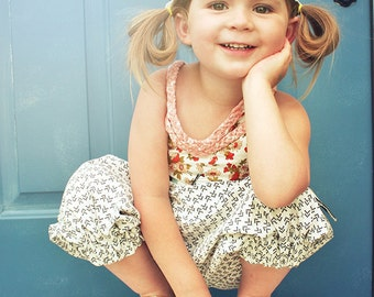 Annie Dress and Romper PDF Pattern & Tutorial, {Maxi and Knee Length} All Sizes 6M-10 years included