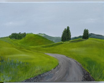 Tuscan Road- Original Oil Painting 12x16 - Landscape