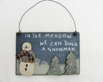 Snowman ornament, In the meadow ornament