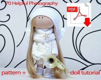 Textile doll tutorial, PDF Digital Pattern, Sewing Patterns, pattern doll, sew doll pattern, sewing, Pattern Decoration doll, Pattern toys