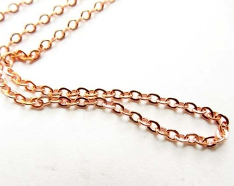 Rose Gold Plated Unfinished Chain - 5 Feet - 22-25-4