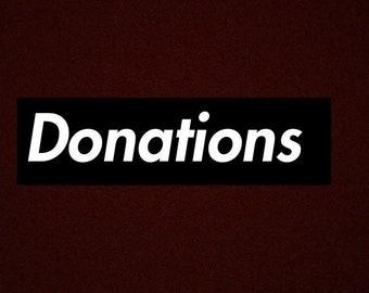 Donations !