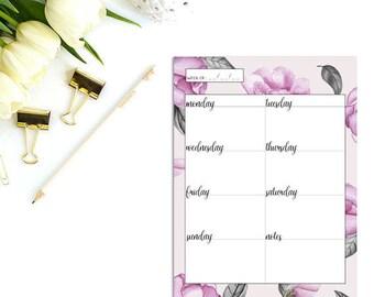 2017 daily planner, Weekly planner printable, Weekly planner inserts, Planner inserts a5, Daily planner printable, College student planner