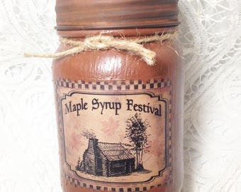 Maple Syrup Festival,  Grungy Pint Jar Candle, Moeggenborg Sugar Bush