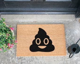 Poo Emoji doormat - 60x40cm - Quirky Gift