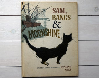 Vintage 1966 Sam, Bangs and Moonshine by Evaline Ness children's book