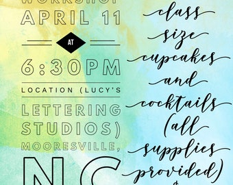 Hand Lettering Workshop | April 11
