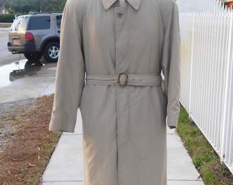 Vintage Christian Dior Mens Trench Coat