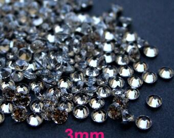 AAAAA 3mm Cubic Zirconia Loose Stone CZ Round Diamond Brilliant Cut - Diamond Clear - 36pcs