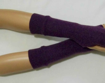 Short,Cashmere,Heather multicolored melange,Hippie,Boho,Delicate,Nice,Soft and Warm, Fingerless Gloves with Thumb Holes. IDEAL for HER