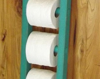 Ladder/ toilet paper holder/ rustic / bathroom decor/ farmhouse/ distressed decor