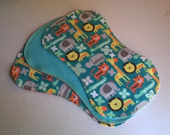 Safari Animals Baby Burp Cloths Burp Rags