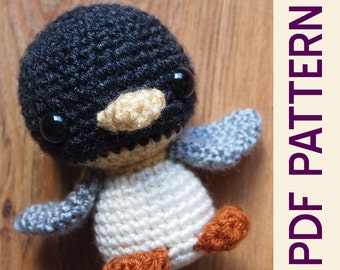 PDF Crochet Amigurumi Arctic Penguin Buddy Doll Pattern Cute for Babies Kids and Adults