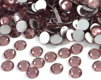 Amethyst Glass Rhinestones for Embellishments 2-6mm
