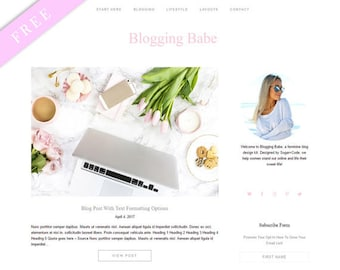 FREE WordPress Theme BLOGGING BABE