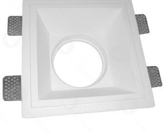 Square Spotlight Holder for Ar111 complete with GU10 Lampholder