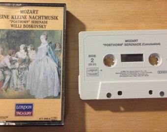"""MOZART - Eine Kleine Nachtmusik """"Posthorn"""" Serenade Willi Boskovsky audio cassette tape"""