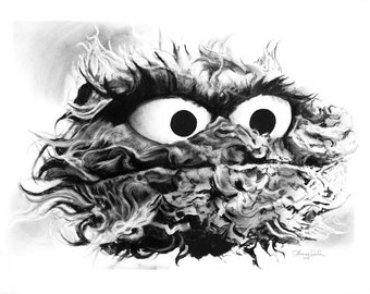Oscar the Grouch (Fine Art Print not the real Muppet)
