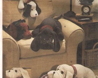 Vogue 7677 Craft Basset Hound PUPPIES Puppy Stuffed Plush Toy Dog By Linda Carr Sewing Pattern UNCUT