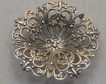Heirloom Quality Ornate Brass Ox Filigree Focal Round 29mm 1 pc 4779-TCRB-S