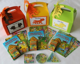 Zoo/ Jungle themed handmade children's party boxes / christening party / 1st party