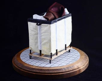 Miniature Hotel Laundry Cart (1/10th Scale)