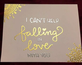Falling In Love Card - Embossed