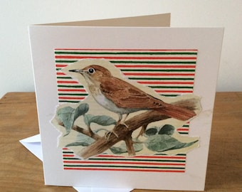 Bird on Branch Mother's Day Card