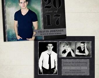 Senior Graduation Announcement Template for Photographers 002 - ID088, Instant Download