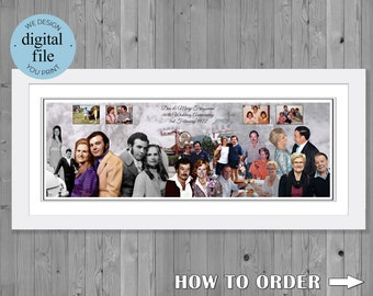 40th wedding anniversary gift Photo  Collage for 40th wedding Anniversary 40th Anniversary Gift Photo Montage 40th Wedding Anniversary