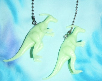 Set of Two ~ Glow-in-the-Dark Dinosaurs ~ Ceiling Fan Pull Chains