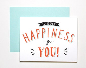 Congratulations Card- So Much Happiness For You