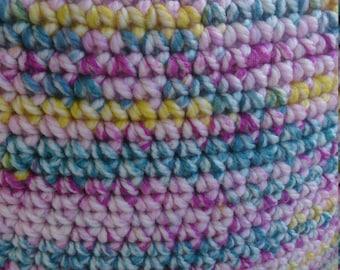 Handmade super sized Crochet Pouffe footstall cushion