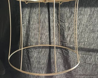 Vintage drum lamp shade etsy 35 off sale vintage drum shade wire frame farmhouse industrial chic craft supply display keyboard keysfo Images