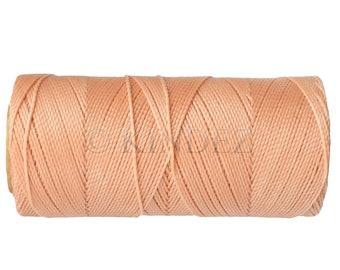 Macrame Cord - 1 spool - Waxed Polyester Thread Linhasita cor 238 - Jewelry Cord - Light Peach
